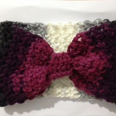 crocheted winter headband 2