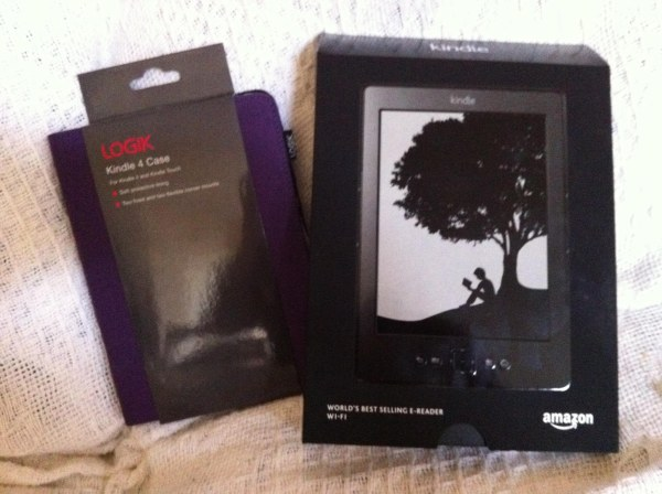 Look! Kindle and case. Lucky lass :D