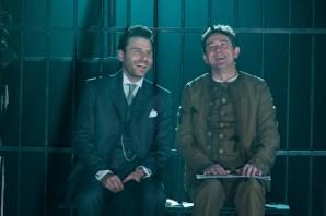 Jason Durr (Sherlock Holmes), Adrian Lukis (Mycroft Holmes) photographer Manuel Harlan