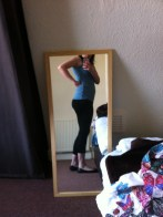 trying stuff out, feeling slightly fat and exposed