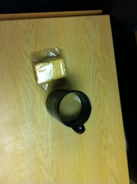 they kindly plied me with coffee and biscuits :D