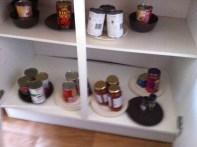 rearranged cupboards