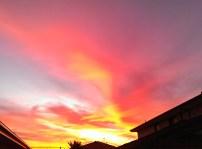 Fiery sunset skies