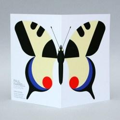 Paul Farrell swallowtail butterfly card