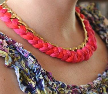 DIY Woven Chain Necklace