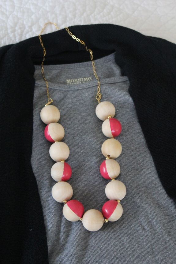 DIY kate spade necklace