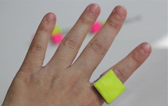 clay neon ring