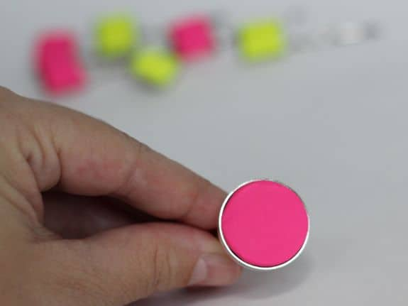 pink neon ring