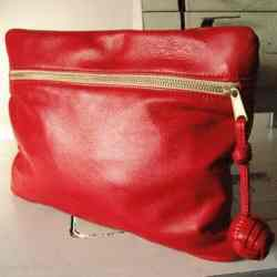 1,000 Follower Giveaway – $128 Red Leather Clutch!!