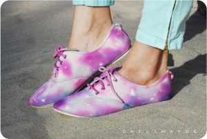 tie dye galaxy shoes