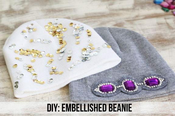 DIY Embellished Beanie