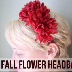 DIY Dollar Store Flower Headbands