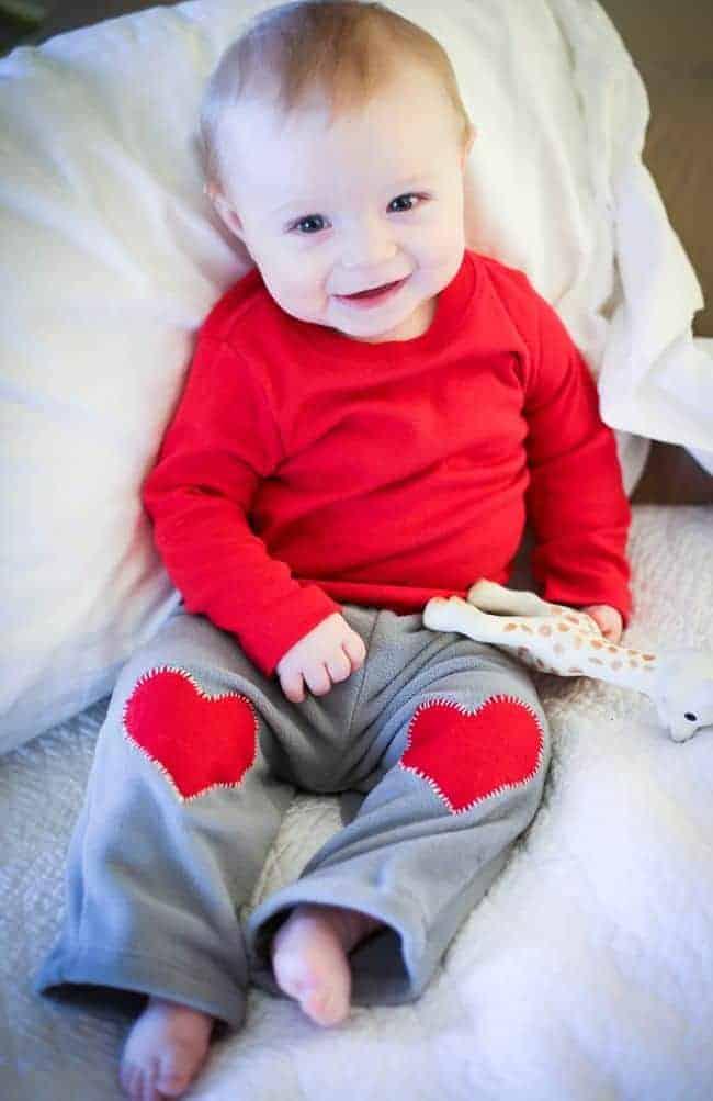 DIY Heart Knee Patch
