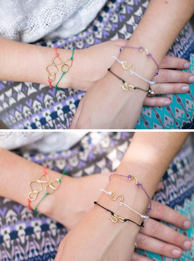 DIY wire shape bracelets