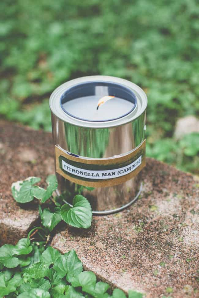 Make Citronella Paint Can Candles for Dad