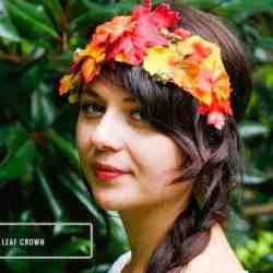 DIY Fall Leaf Crown