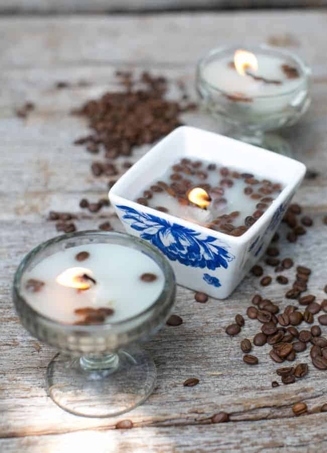 Coffee DIY Candles | HelloGlow.co