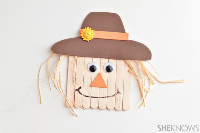 kids fall crafts scarecrow