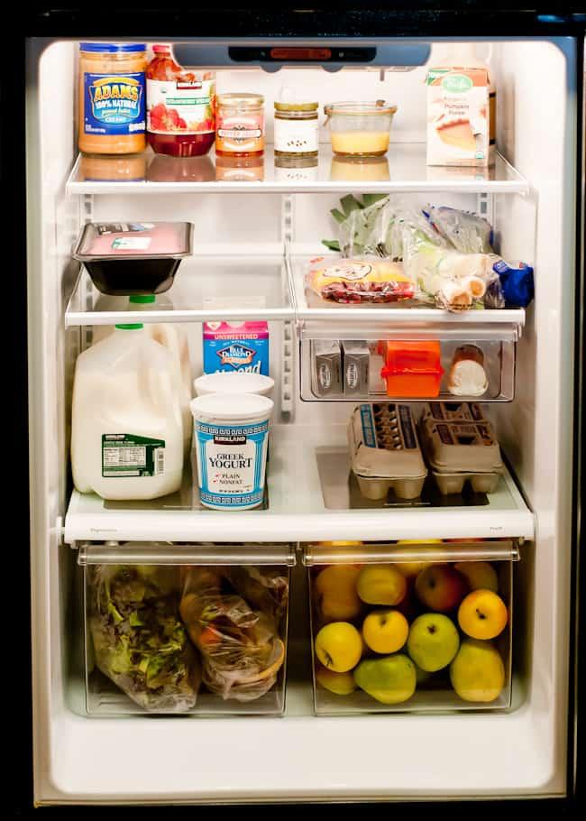 thanksgiving kitchen - fridge