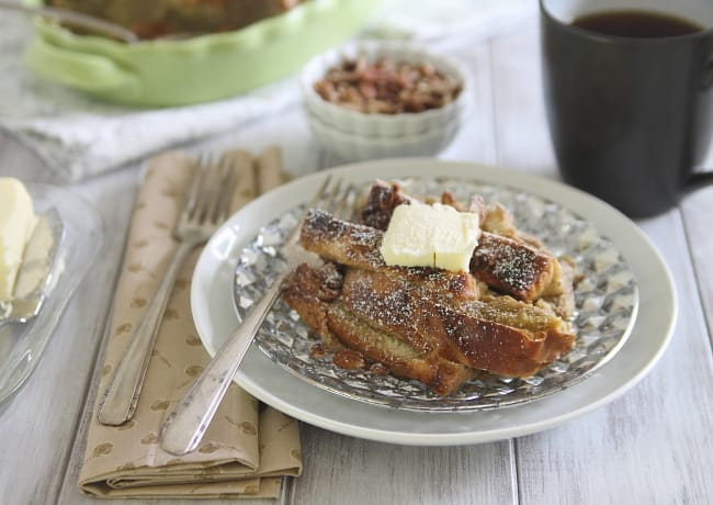 Baked Gingerbread Pecan French Toast | Hello Glow