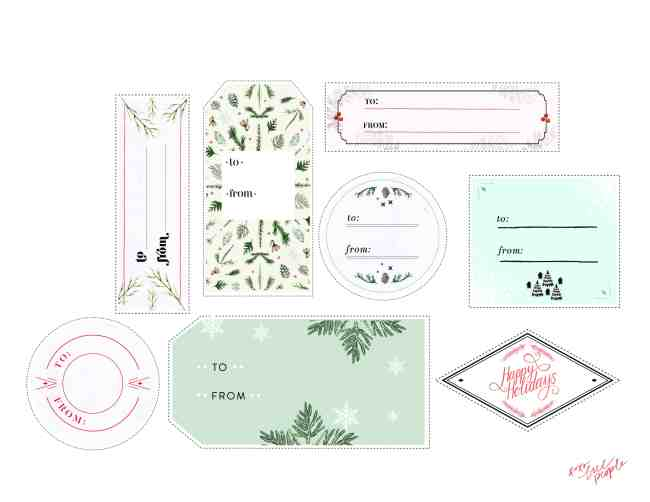 Free People Holiday Tags | Eco Wrap Ideas