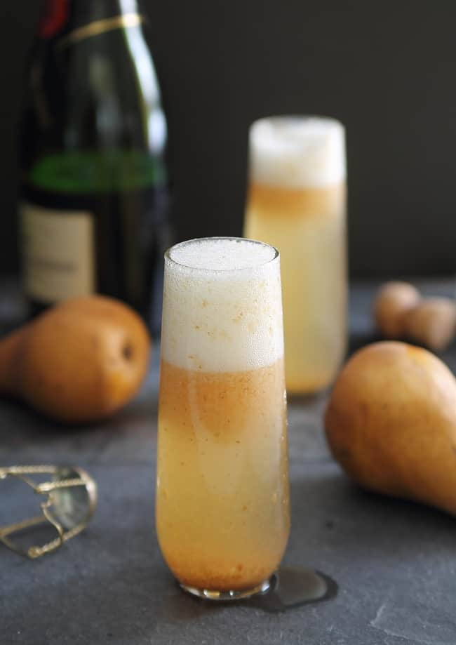 Pear Ginger Bellini | HelloGlow.co