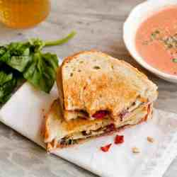 Quick and Easy Grilled Cheese Sandwich + Creamy Tomato Soup