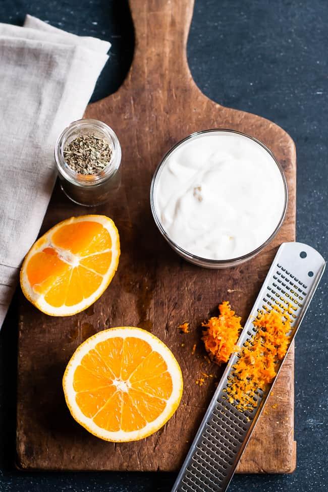 Orange Creme Fraiche Alfredo | Hello Glow