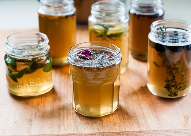 DIY flavored syrups lavender rose