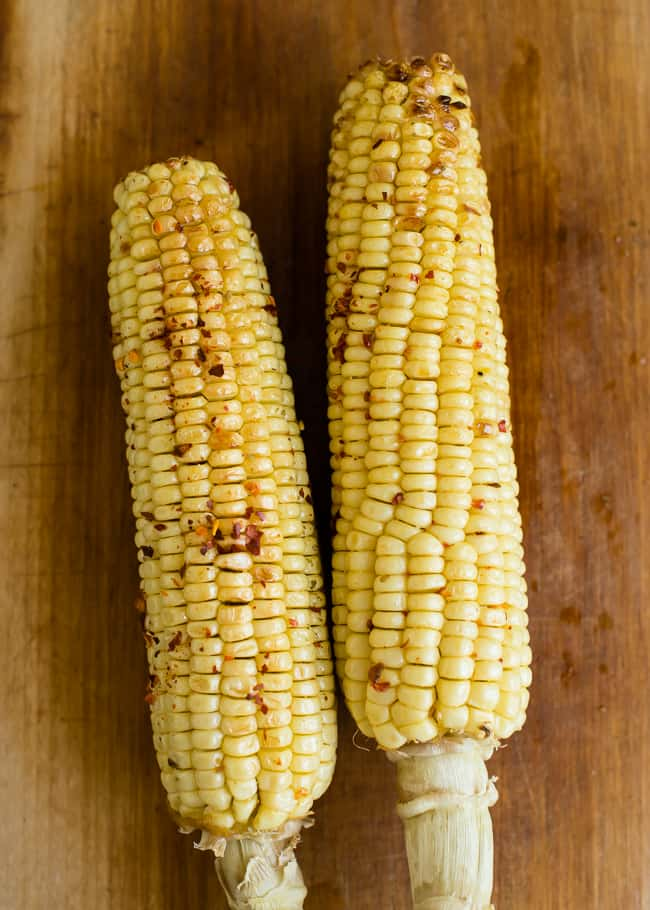 Sweet and Spicy Roasted Corn