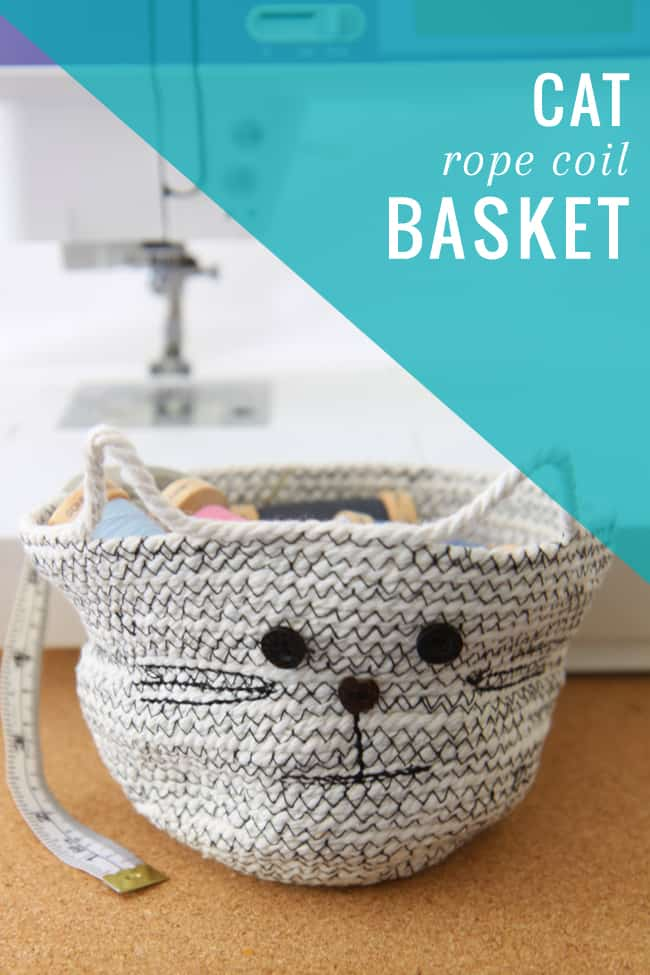 DIY Cat Rope Coil Basket | HelloGlow.co