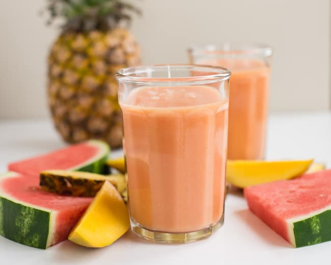 Healthy Watermelon Smoothie | Hello Glow