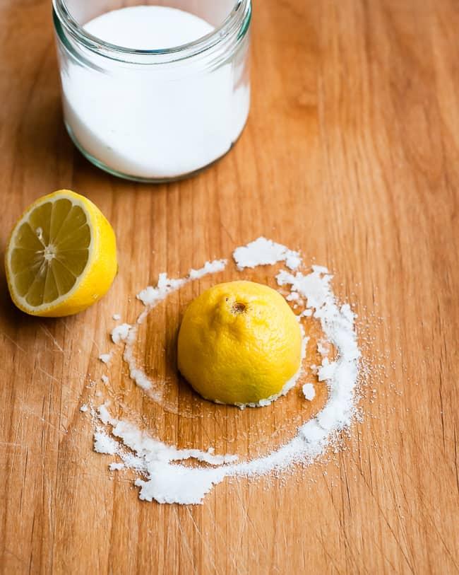 Lemon Cutting Board Cleaner