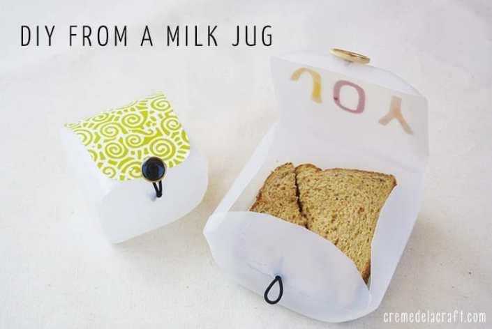 Upcycled Milk Jug Sandwich Box