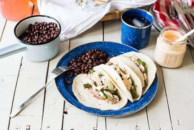 Pork Tenderloin Tacos with Chipotle Cream| HelloGlow.co