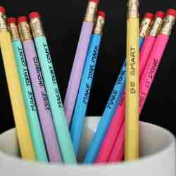 DIY: Painted Back-to-School Pencils