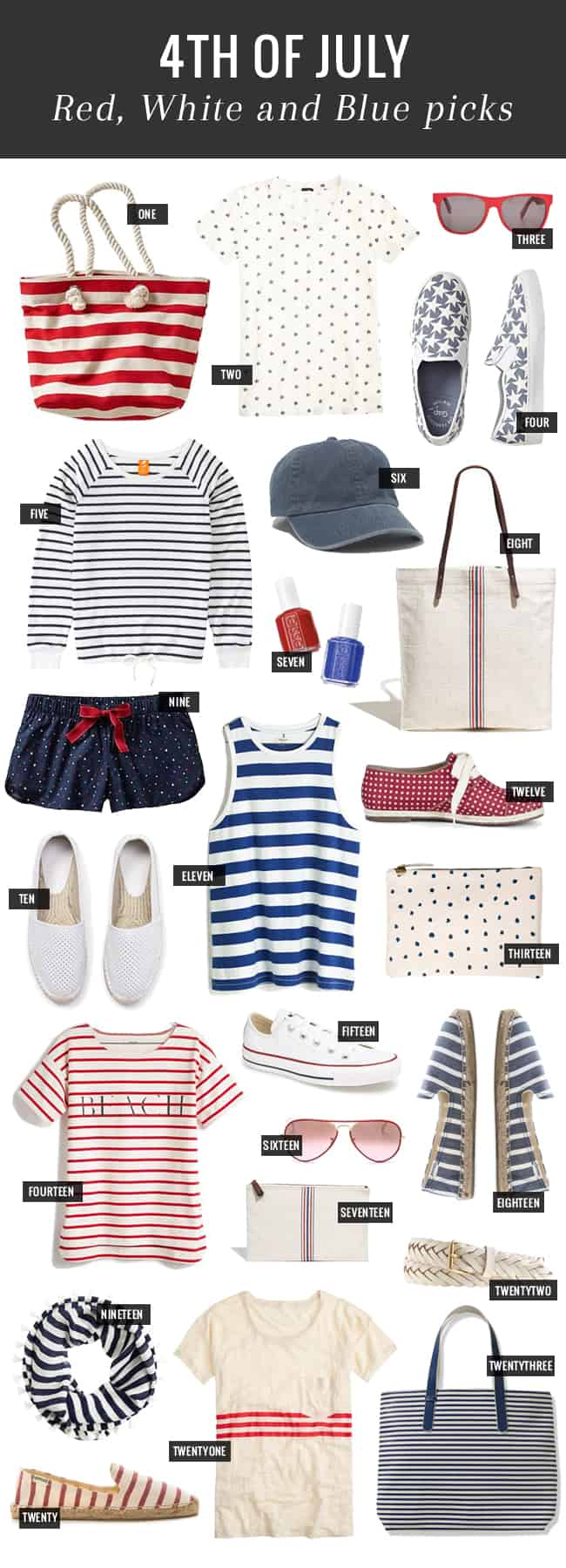 23 Red, White & Blue Buys for 4th of July | Hello Glow