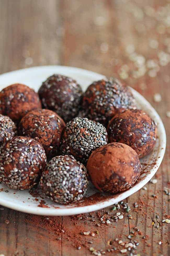 Chocolate Chia Protein Balls Recipe | HelloGlow.co