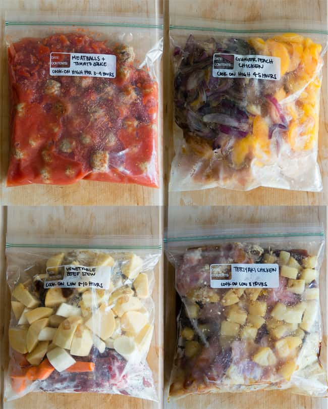 12 Easy Slow Cooker Freezer Bag Meals | HelloGlow.co