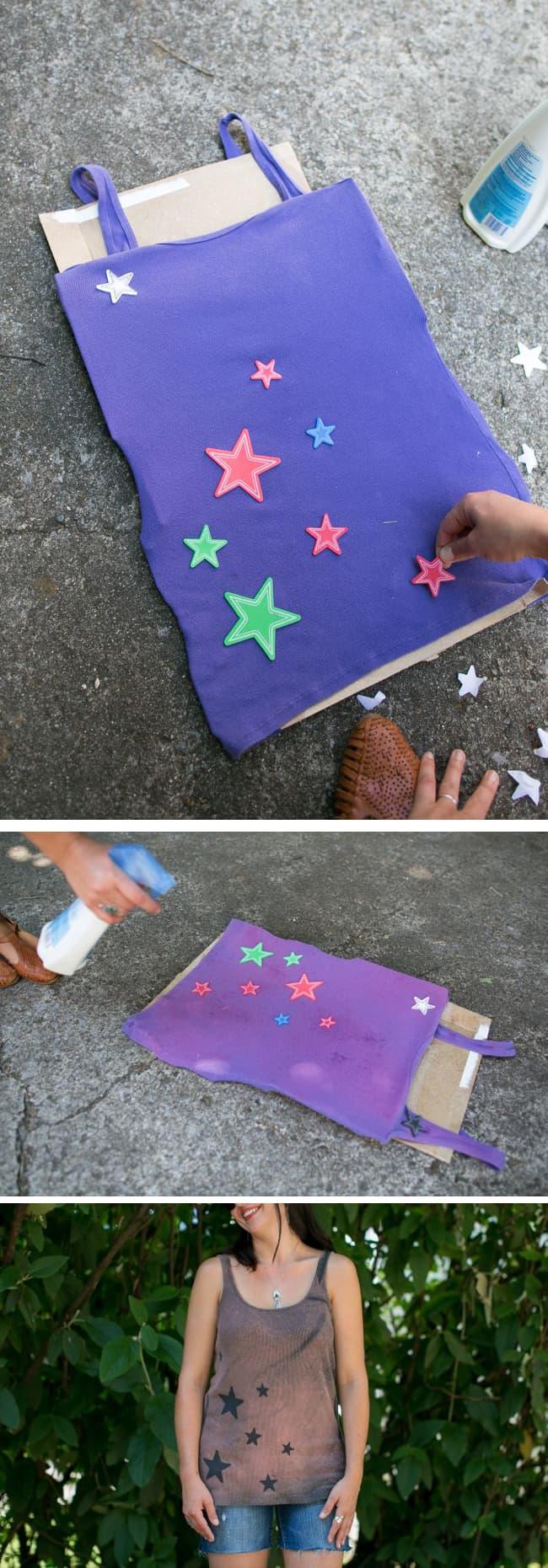 DIY Bleach Star Tank Tops