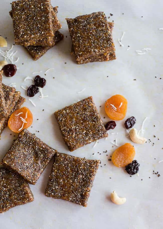 Vegan Apricot Cherry Energy Bars Recipe | Hello Glow