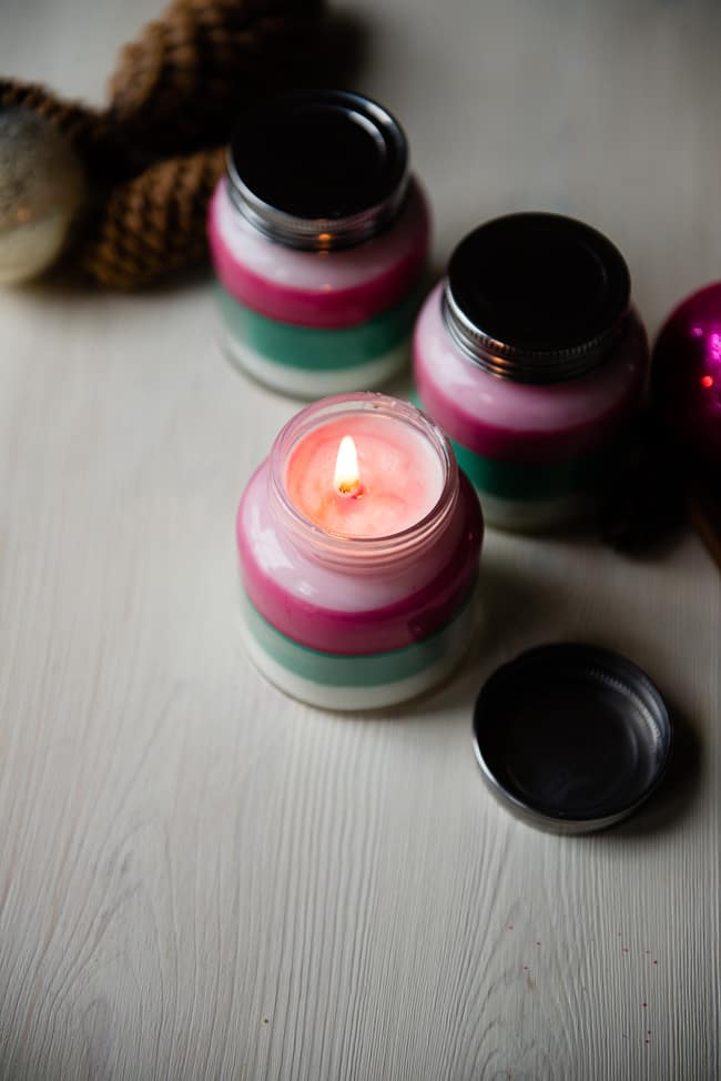Layered Scent Holiday Candles | Ways To Make Your Home Smell Like Christmas | How to Make Your Home Smell Nice