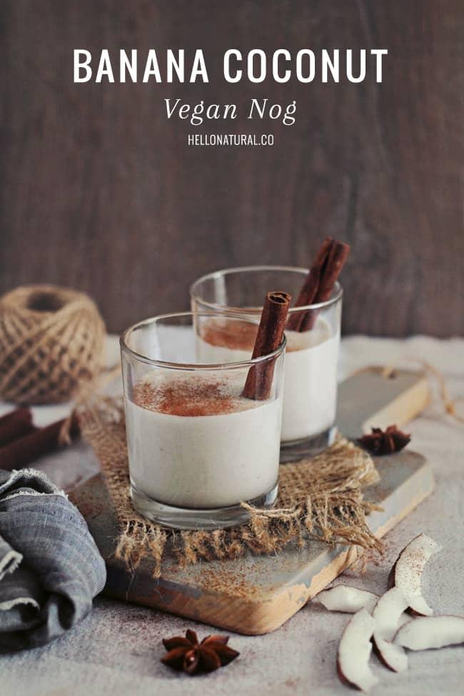 Coconut Vegan Nog Recipe   HelloGlow.co