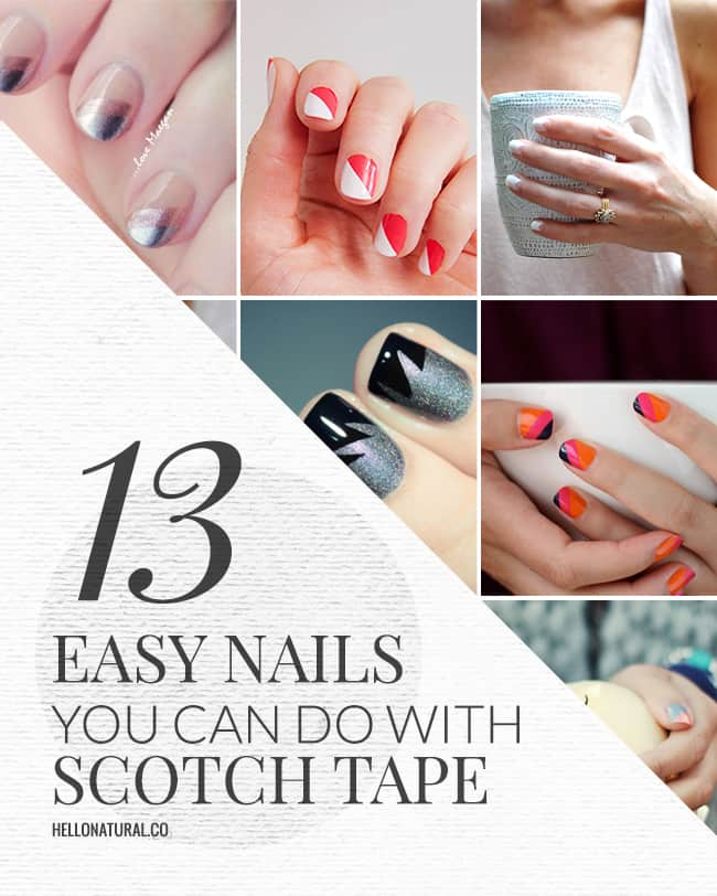 13 Easy Nail Designs You Can Do With Scotch Tape | HelloGlow.co