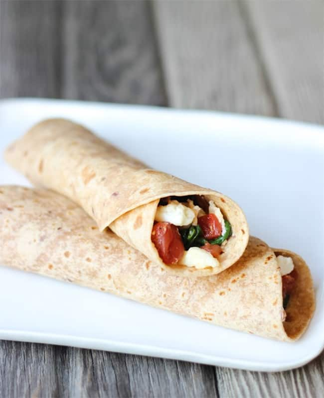 Spinach Feta Wraps | 101 Healthy Lunches