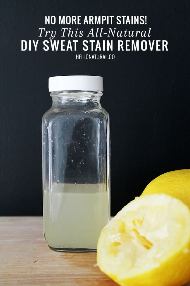 DIY Natural Sweat Stain Remover