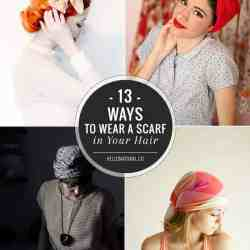 Knotted, Twisted, Tied: 13 Chic Ways To Wear a Scarf in Your Hair