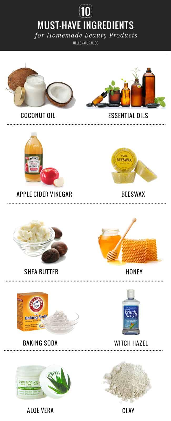 10 DIY Beauty Ingredients