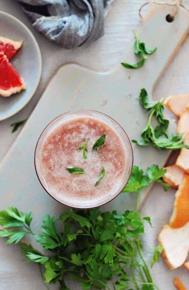 Mint Grapefruit Cool Down Juice
