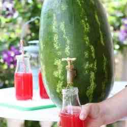Home Hack: How To Turn a Watermelon Into a Drink Dispenser